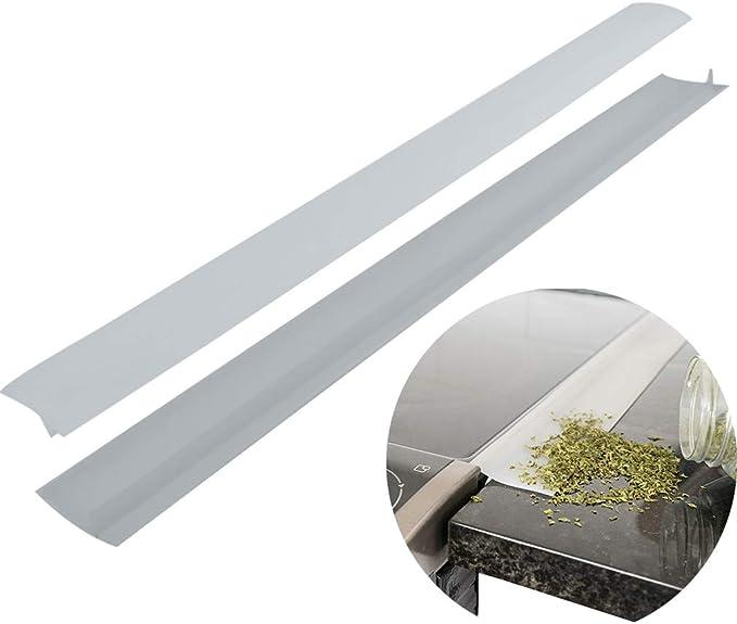 Evelots - Juego de 2 protectores de silicona para hornillo y encimera, transparente