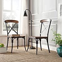 Nelson Industrial Modern Rustic Cross Back Dining Chair (Set of 2) by Tribecca Home