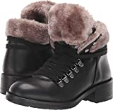 STEVEN by Steve Madden Women's PALOMA Fashion Boot, Black Leather, 7 M US