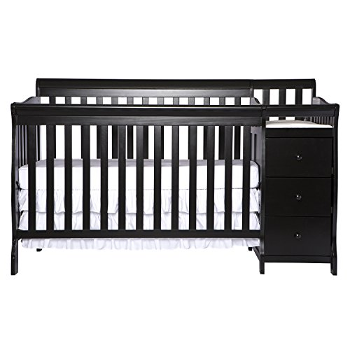 Dream On Me 5 in 1 Brody Convertible Crib with Changer, Black