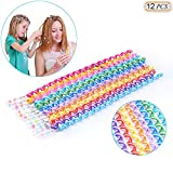 Hisight 12pcs Spiral Hair Rope Women Girl Hair Styling Twister...