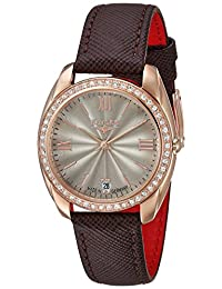 ELYSEE Women's 'Ladies-Edition' Quartz Gold and Leather Casual Watch, Color:Brown (Model: 28603.0)