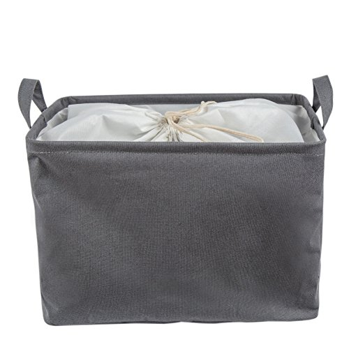 (Every Deco Rectangular Storage Laudry Basket with Handles and Drawstring - 14.96