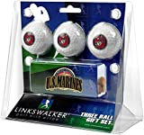 US Marines - Slider Clip 3 Golf Ball Gift Pack