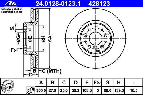 ATE Bremsscheiben  Ø305 Bremsbeläge vorne VOLVO S60 I S80 I V70 II