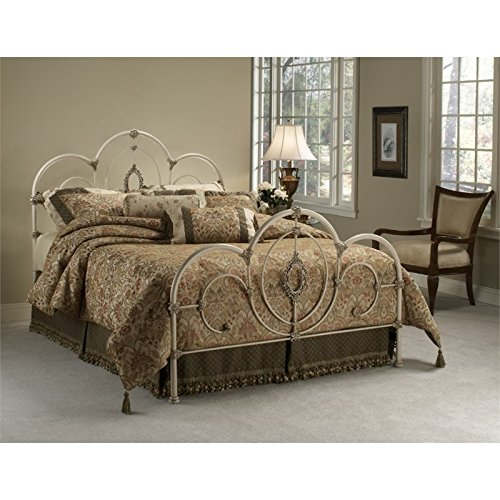 Hillsdale Furniture Panel Bed in Antique White (Full: 54.75 in. L x 55.5 in. H (46.5 lbs.))