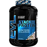 Evlution Nutrition Stacked Protein 4lb Protein Powder With 25 Grams of Protein, 5 Grams of BCAA's and 5 Grams of Glutamine (Birthday Cake)