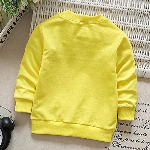 Toddler Baby Girls Boys Long Sleeve Cotton Soft Pullover T-Shirt Tops Clothes