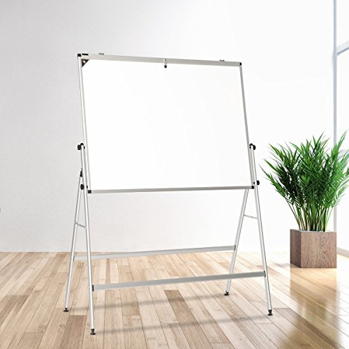 ZHIDIAN Magnetic White Board with Stand/Dry Erase Board Aluminum frame 48x36 Inches Mobile Foldable easel /4 markers and 1 eraser 8 magnet by ZHIDIAN