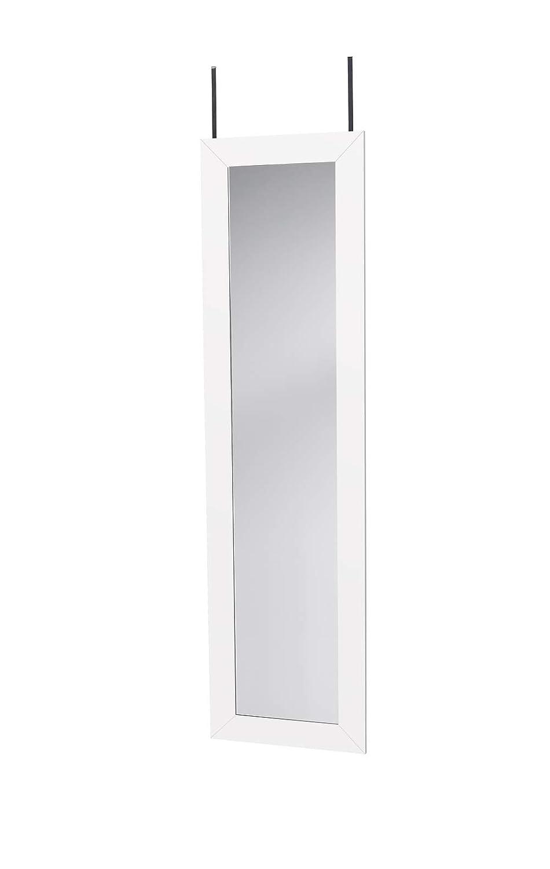 Mirrotek Over The Door Hanging Mirror 14 x 42 Black