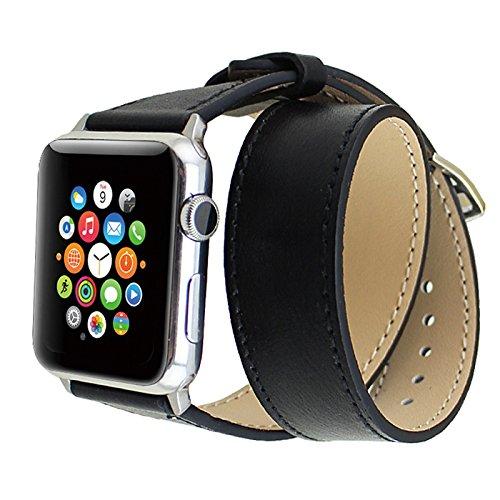 Apple Watch 42mm シンプルトゥール [黒レザーバンド]