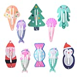"""inSowni 2"""" Snap Hair Clips Barrettes Animal Glitter"""