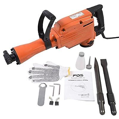 Goplus® 2200 Watt Electric Demolition Jack Hammer Concrete Breaker Punch Chisel Bit Hd