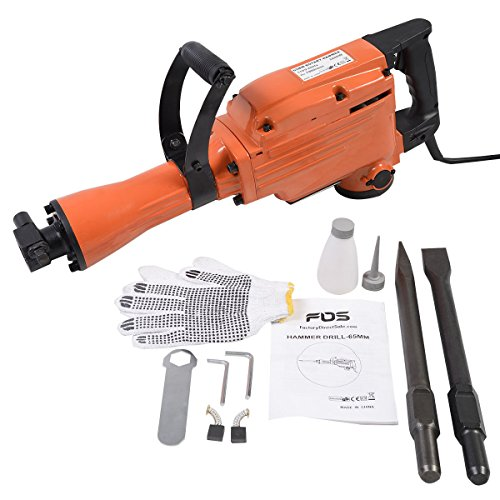 NEW 2200 Watt Electric Demolition Jack Hammer Concrete Breaker Punch Chisel Bit HD by Jikkolumlukka