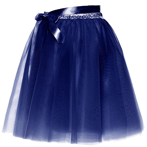 Slip Royal Femmes Short BeiQianE Amovible Tulle Sash Jupon Bowknot Party Prom Jupe Layered fpOwqYH