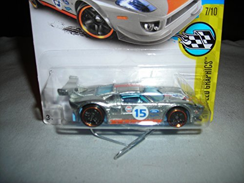 Hot Wheels 2016 HW Speed Graphics 2016 Ford GT 162/250, Exclusive ZAMAC