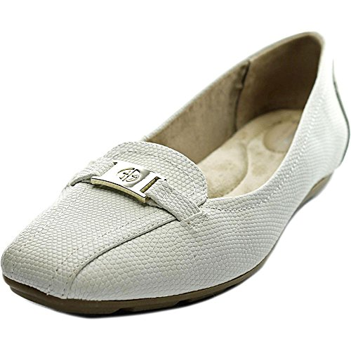 Round Flats Toe Bernini New White268262 Jileese Giani Leather xXE8qpv