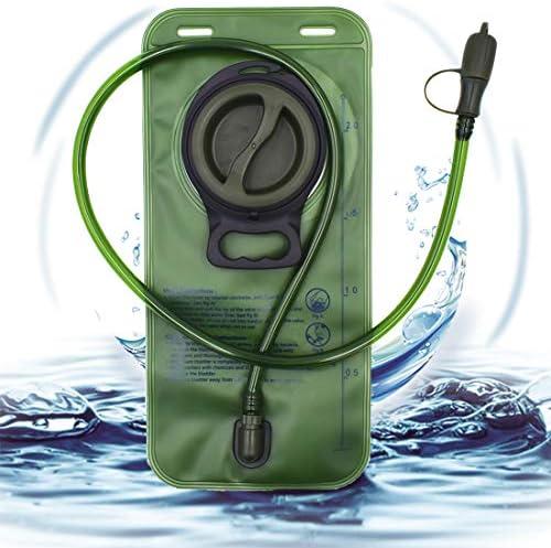 Vejiga Hidratación, BESTZY 2L Bolsa de hidratación, Mochila Hidratación Portátil, para Ciclismo, Senderismo, Carrera, Escalada, Camping (Verde)