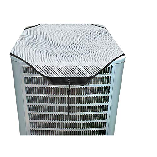 ZMAYI AC Defender - All Season Universal Mesh AC Cover for Central Units Outside (White Mesh, 36