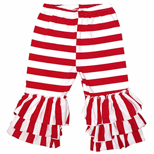Unique Baby Girls Christmas Candy Cane Capris (4T/M, Red & White) (Candy Cane Outfit)