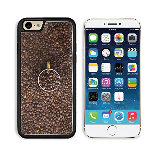 MSD Premium Apple iPhone 6 iPhone 6S Aluminum Backplate Bumper Snap Case Coffee Beans Coffee Beans Cocoa Image ()