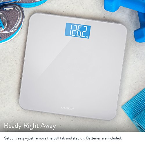 Large Product Image of Digital Body Weight Bathroom Scale by GreaterGoods, Large Glass Top, Backlit Display, Precision Measurements (Digital Scale New)