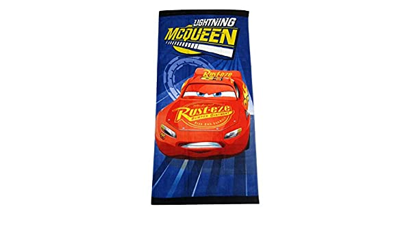 Turbo Disney Pixar Cars Lightning McQueen Clubhouse Fiber Reactive Beach Towel
