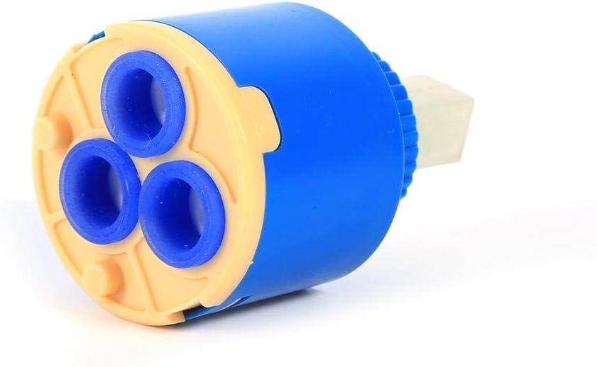 Cartouche /à disque en c/éramique-BiuZi 1Pc Bleu PP En Plastique Robinet Bobine Cartouche En C/éramique M/élangeur Deau Robinet Contr/ôle Int/érieur Pratique Unique Joint Robinet Robinet 35mm