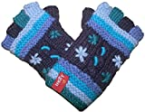 1501 G Agan Traders Hand Warmer Fingerless Mitten (Navy Blue)