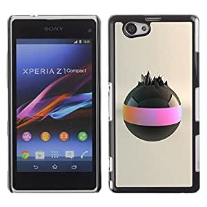 LECELL -- Funda protectora / Cubierta / Piel For Sony Xperia Z1 Compact D5503 -- Black Ball --