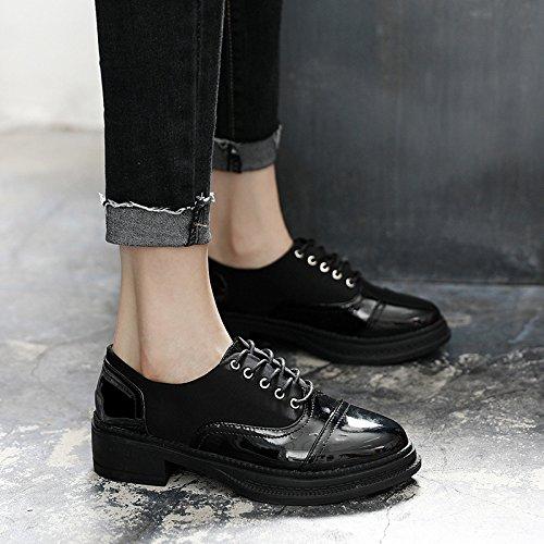 scarpe vernice pelle black scarpe studenti scarpe 37 oxford GTVERNH fytFZqyg