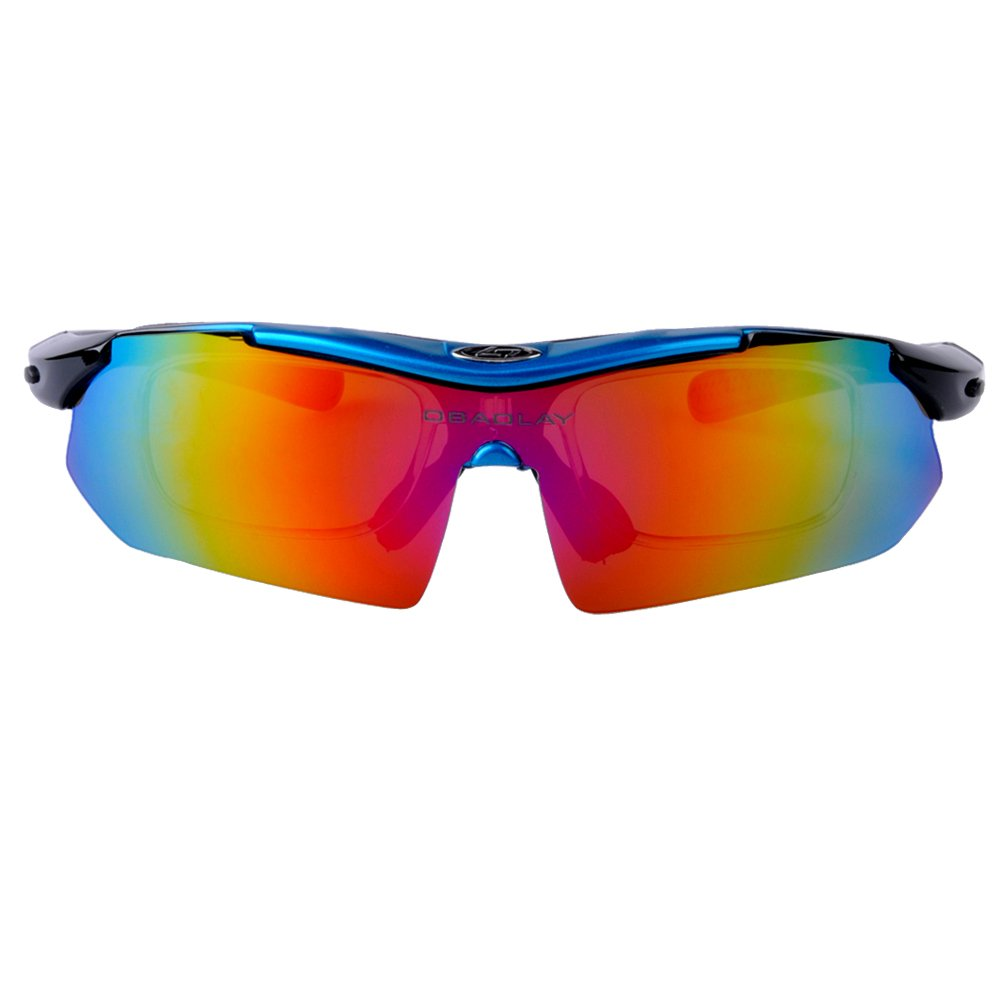 Amazon.com : Clear Low Light Polarized Lens Riders Glasses Black ...