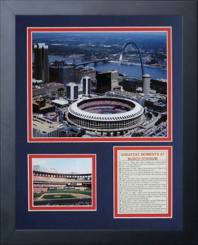 Legends Never Die Busch Stadium Old Aerial Framed Photo Collage, 11x14-Inch