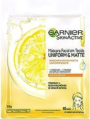 Máscara Facial Em Tecido Vitamina C Garnier Uniform&Matte, 28G, Gar