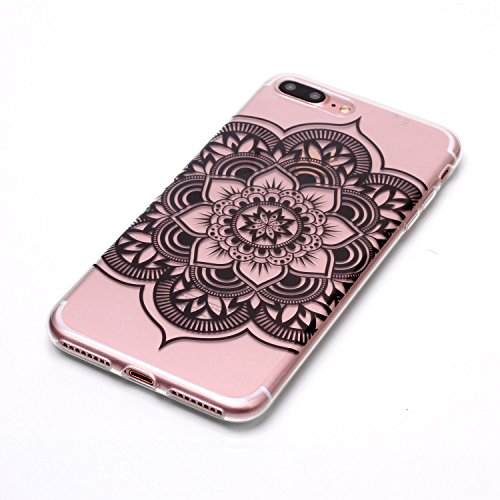 iPhone 7 Plus Hülle, Modisch Kaktus Transparent TPU Silikon Schutz Handy Hülle Handytasche HandyHülle Etui Schale Schutzhülle Case Cover für Apple iPhone 7 Plus
