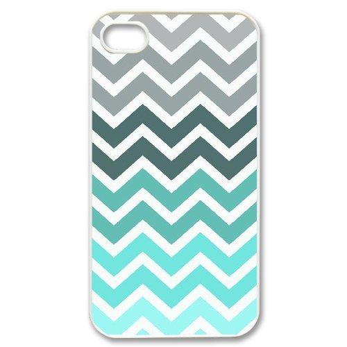 Alice iPhone 4,4s Case,Personalized Custom Fashion Zigzag ,Unique Design Protective TPU Hard Phone Case Cover