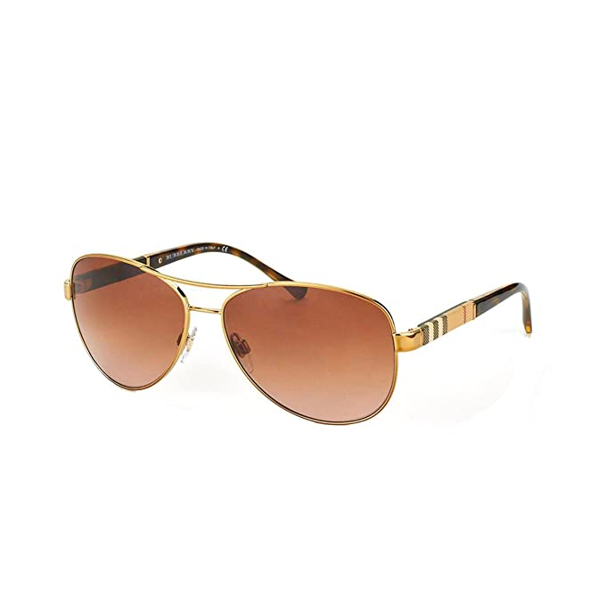 10f23bcf03 Burberry Unisex 0BE3080 Gold Brown Gradient  Burberry  Amazon.ca ...