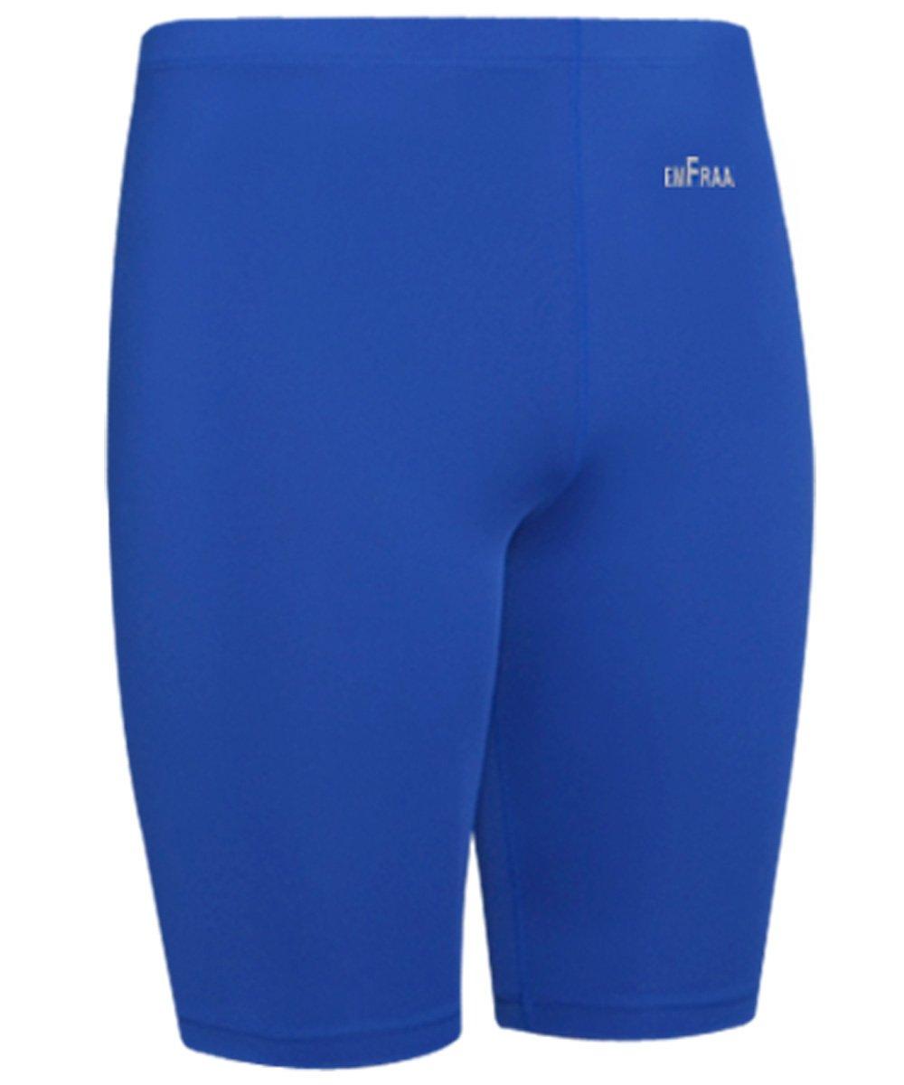 emFraa Men Women Compression Base layer Running Tight Skin Shorts Blue XL