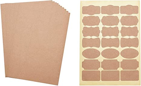 20 A4 Sheets of Self Adhesive Labels Custom Printed
