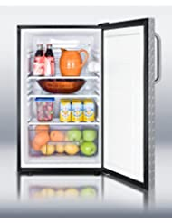 Summit FF521BLDPLADA Refrigerator, Silver With Diamond Plate