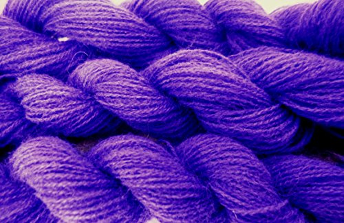 FOUR PACK Dark Purple Acrylic Blend Thin Fingering Lace Weight Crochet Knitting (Nylon Fingering Weight)