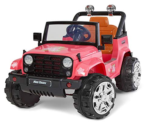 Kid-Trax-4X4-Tracker-Electric-Ride-On-Toy-3-5-Years-Old-6-Volt-Max-Weight-60-lbs-Beach-Cruiser-Pink