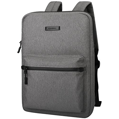 Cartinoe Slim Sleeve Case Style Laptop Backpack Business Travel Backpack College Backpack Computer Backpack Casual Daypack School Bookbag for Teenage Girls Boys fit 13 14 15 inch Laptop - Dark Grey