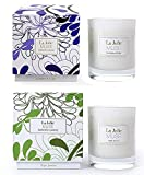 LA JOLIE MUSE Lavender Lilac&Jasmine Scented Candles Aromatherapy Soy Wax, 2 Pack 8.1 oz Each, Gift Candles for Mothers Day Home Decoration