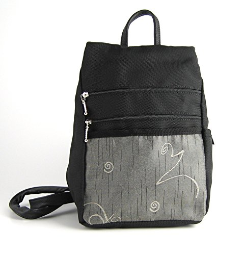 Backpack Purse by GreatBags | Small Black Womens + Lightweight + Stylish + Durable by GreatBags