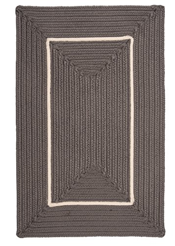 Doodle Edge Colonial Mills Rectangle Area Rugs, 4-Feet by 6-Feet, - Mens Edge Braided