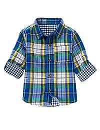 Crazy 8 Double Weave Plaid Shirt (2T)
