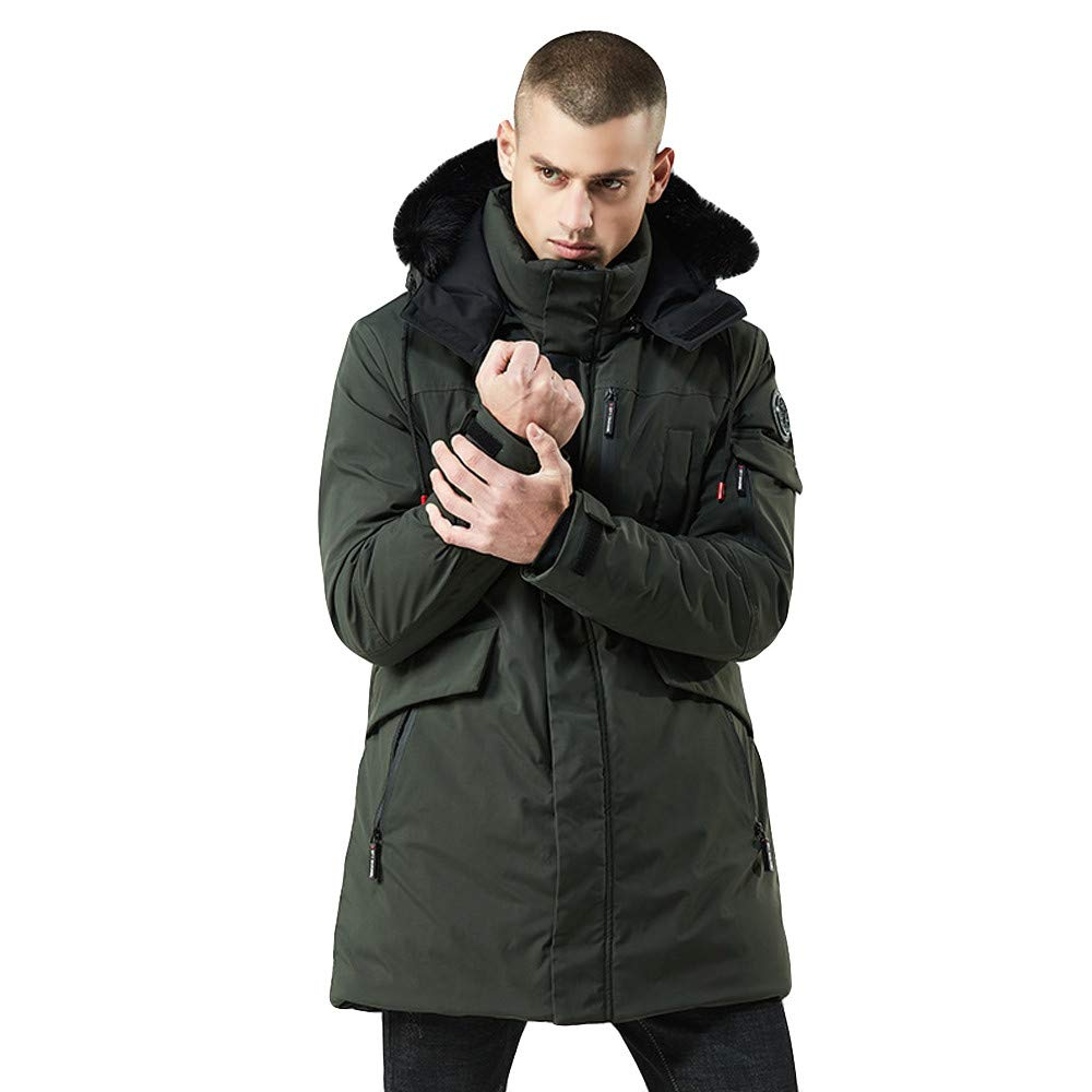 Pandaie-Mens Product OUTERWEAR メンズ Large アーミーグリーン B07K7J6SGY, 色丹郡 8d9cdea7