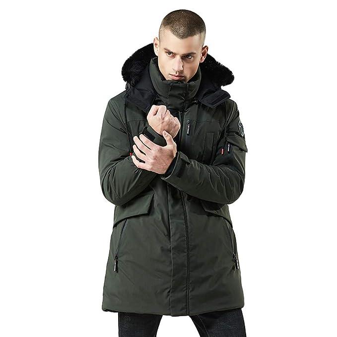 b71cfa2f2 Rain Trench Coat Mens Waterproof with Hood.Mens Winter Medium Length ...
