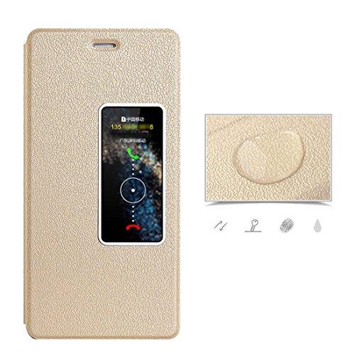 Pelle pelle Portafoglio Bookstyle Gold JEPER chiusa Pu Magnetica con P10 P10 Flip Protettiva Huawei Huawei Custodia in Cover Case per Stand SqIan